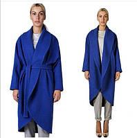 Пальто женское длинное с поясом P468