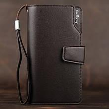 Стильный мужской кожаный клатч кошелек Коричневый Baellerry Business Балери ViPvse