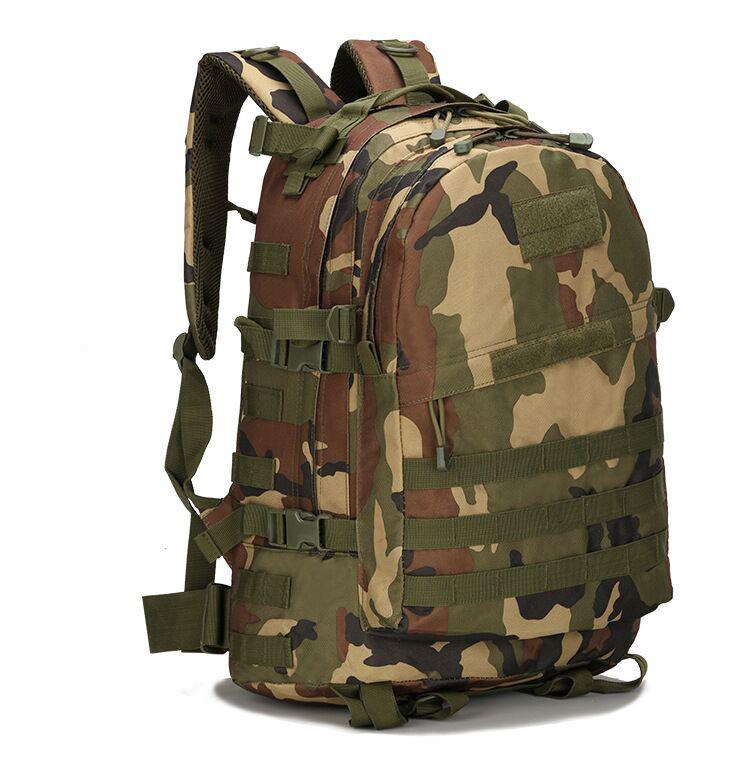 Тактический походный рюкзак Military 30 L Камуфляжный милитари / T401 ViPvse