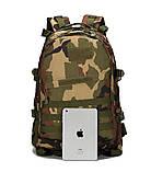 Тактичний похідний рюкзак Military 30 L Камуфляжний мілітарі / T401 ViPvse, фото 3