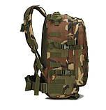 Тактичний похідний рюкзак Military 30 L Камуфляжний мілітарі / T401 ViPvse, фото 8