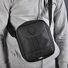 Стильна сумка через плече барсетка Puma Ferrari пума ферарі Чорна ViPvse