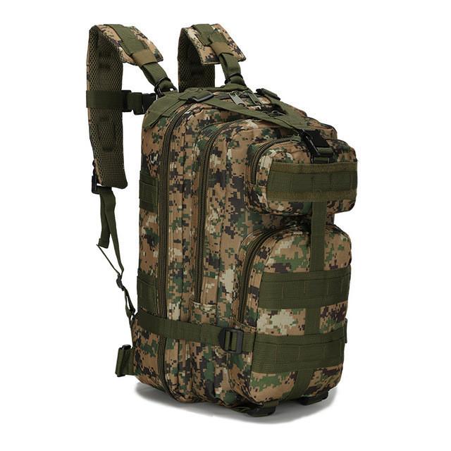 Тактический походный рюкзак Military 25 L Камуфляжный пиксель милитари / T412 ViPvse