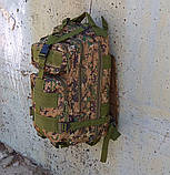 Тактический походный рюкзак Military 25 L Камуфляжный пиксель милитари / T412 ViPvse, фото 2
