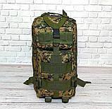 Тактический походный рюкзак Military 25 L Камуфляжный пиксель милитари / T412 ViPvse, фото 9