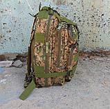 Тактический походный рюкзак Military 25 L Камуфляжный пиксель милитари / T412 ViPvse, фото 10
