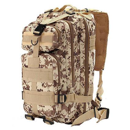 Тактичний похідний рюкзак Military 25 L Камуфляжний піксель мілітарі / T413 ViPvse