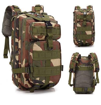 Тактичний похідний рюкзак Military 25 L Камуфляжний піксель мілітарі / T414 ViPvse