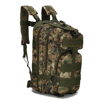 Тактичний похідний рюкзак Military 25 L Камуфляжний піксель мілітарі / T412 ViPvse