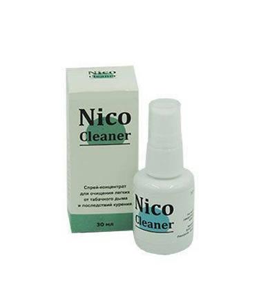 Nico Cleaner - спрей для очищення легенів від тютюнового диму Ніко Клінер ViPpils