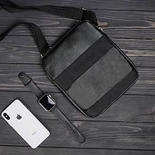 Стильна сумка через плече барсетка Calvin Klein CK кельвін Чорна ViPvse