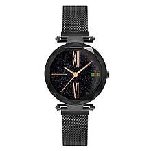 Стильные женские часы Starry Sky Watch черные Скай воч ViPvse
