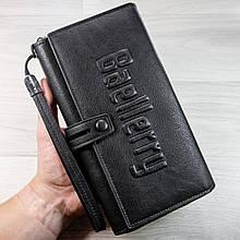 Стильный мужской кожаный клатч кошелек Черный Baellerry Guero Балери гуеро ViPvse