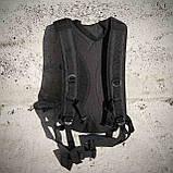 Качественный тактический рюкзак туристический велосипедный Черный ViPvse, фото 9