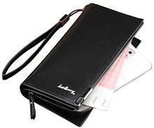 Стильный мужской кожаный клатч кошелек Черный Baellerry Classic Балери ViPvse