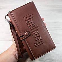 Стильный мужской кожаный клатч кошелек Коричневый Baellerry Guero Балери гуеро ViPvse