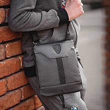 Зручна сумка через плече барсетка Puma пума ферарі Чорна ViPvse