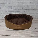 Лежак для собак і кішок Койот + коричневий ViPvse, фото 2