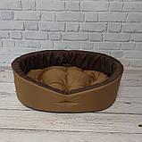 Лежак для собак і кішок Койот + коричневий ViPvse, фото 3