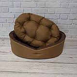 Лежак для собак і кішок Койот + коричневий ViPvse, фото 4