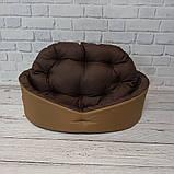 Лежак для собак і кішок Койот + коричневий ViPvse, фото 5