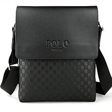 Чоловіча сумка через плече Polo Videng поло Чорна 28x22x4 5 ViPvse