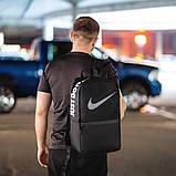 Черный спортивный рюкзак найк сетка Nike Для тренировок учебы ViPvse, фото 5