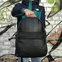 Рюкзак міський чорного кольору еко-шкіра. Рюкзак унісекс стильний чорний.