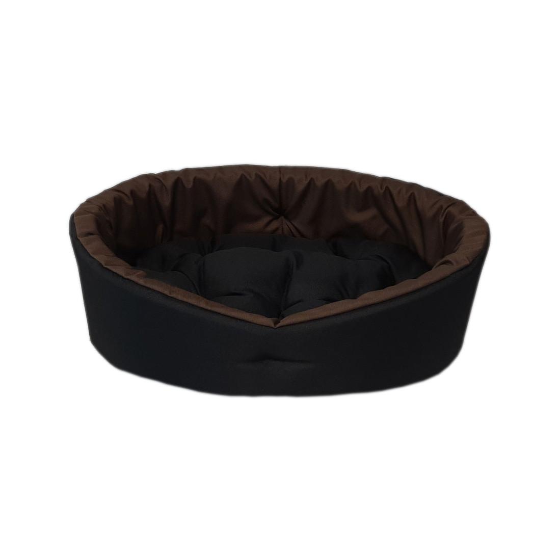 Двухсторонний лежак для собак и кошек Черный с коричневым ViPvse