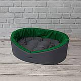 Кровать для животных лежак для собак и кошек Серый с зеленым ViPvse, фото 2