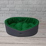 Кровать для животных лежак для собак и кошек Серый с зеленым ViPvse, фото 4