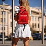 Красный женский рюкзак из кожи PU Стильный и удобный ViPvse, фото 2