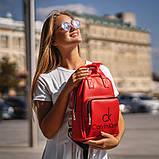 Красный женский рюкзак из кожи PU Стильный и удобный ViPvse, фото 4