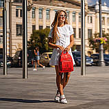 Красный женский рюкзак из кожи PU Стильный и удобный ViPvse, фото 5