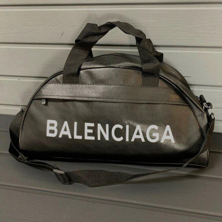 Спортивна фітнес-сумка найк Balenciaga для тренувань Чорна Кожзам ViPvse