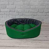 Лежак двухсторонний для собак и кошек Зеленый с серым ViPvse, фото 2