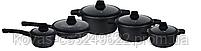 Набір посуду Edenberg - 10 предметів, мармурове покриття/силиконоовые ручки, фото 2