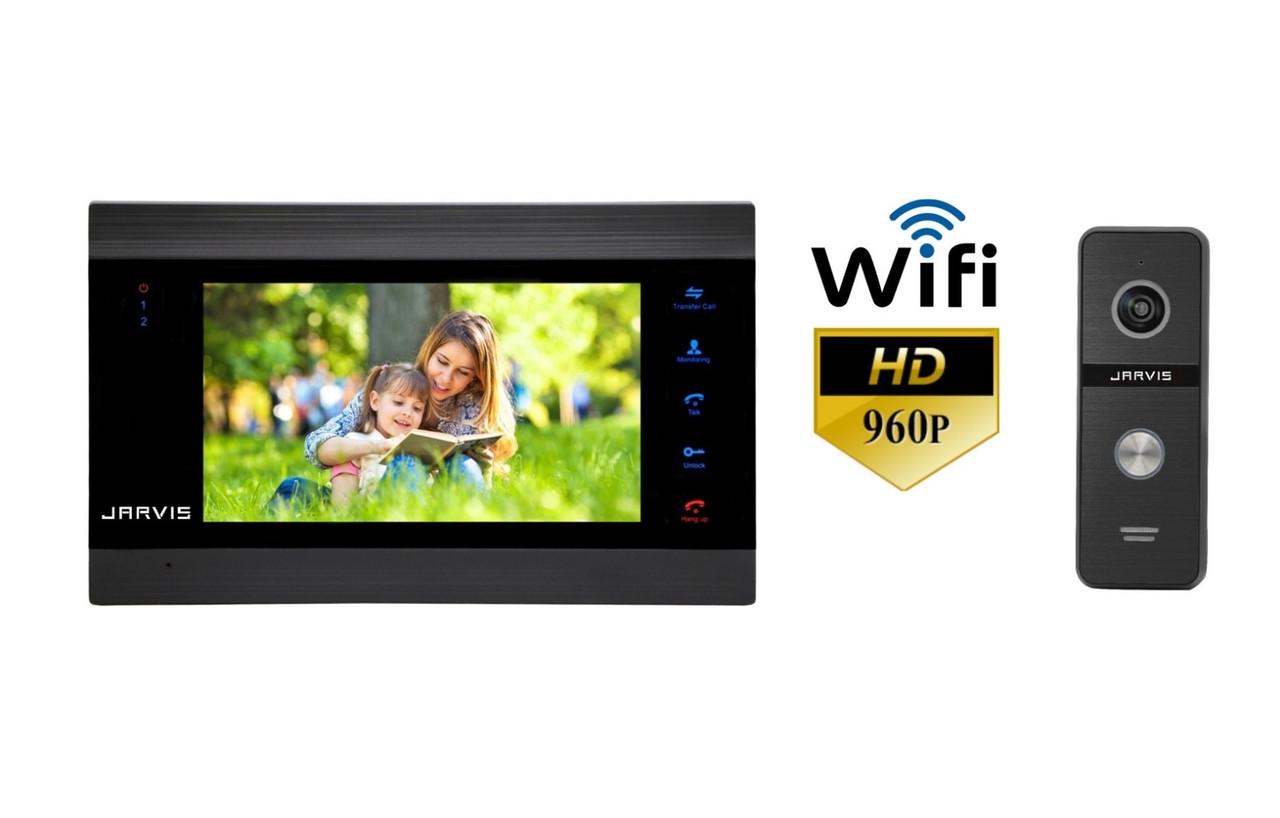 Комплект WiFi AHD 960P видеодомофон Jarvis JS-71MB HD+ WiFi + JS-02B HD+