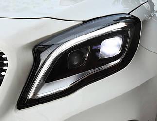 Передние фары Mercedes GLA X156 (13-17) тюнинг Full Led оптика
