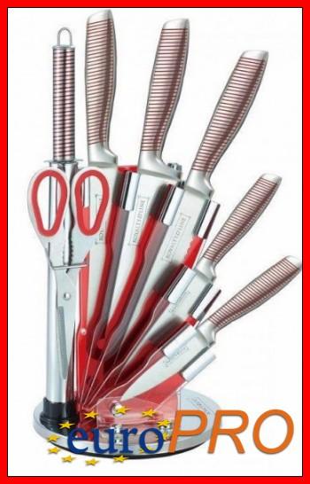 Набор кухонных ножей на подставке Royalty Line RL-KSS804-N