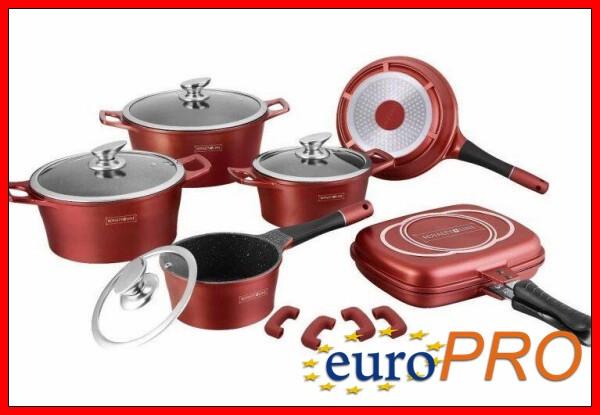 Набор посуды Royalty Line RL ES-1015M burgundy
