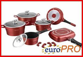 Набір посуду Royalty Line RL ES-1015M burgundy