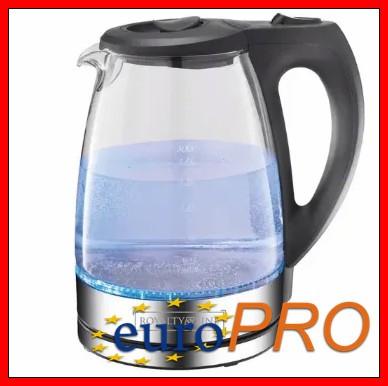 Чайник стеклянный с подсветкой Royalty Line RL-GWK2200.835.1 2200 Вт. 1.7 л