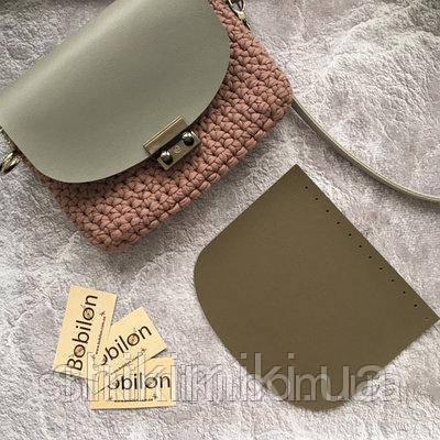 Клапан для сумки из эко-кожи (21х18), цвет мокко