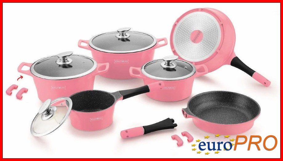 Набір посуду Royalty Line RL ES-1014M pink