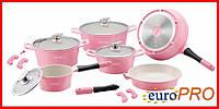 Набір посуду Royalty Line RL-ES1014C pink