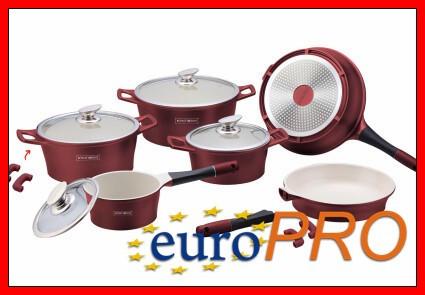 Набір посуду Royalty Line RL-ES1014C burgundy