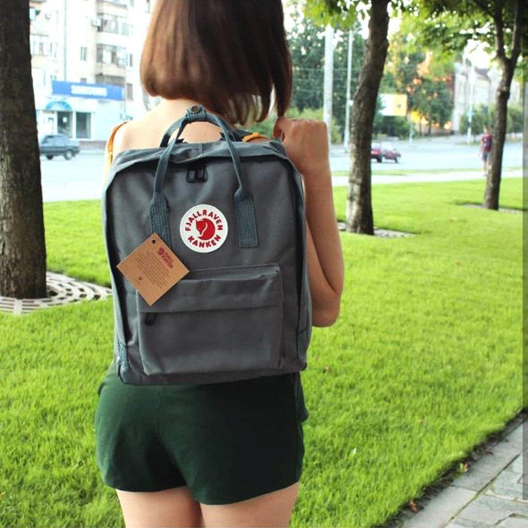 Backpack Fjallraven Kanken Classic Gray Рюкзак Канкен Класик Сірий + органайзер в подарунок ViPvse