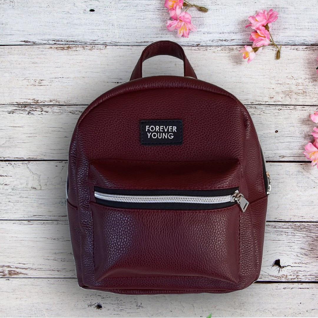 Новинка! Маленький жіночий рюкзак Forever Young Бордовий ViPvse