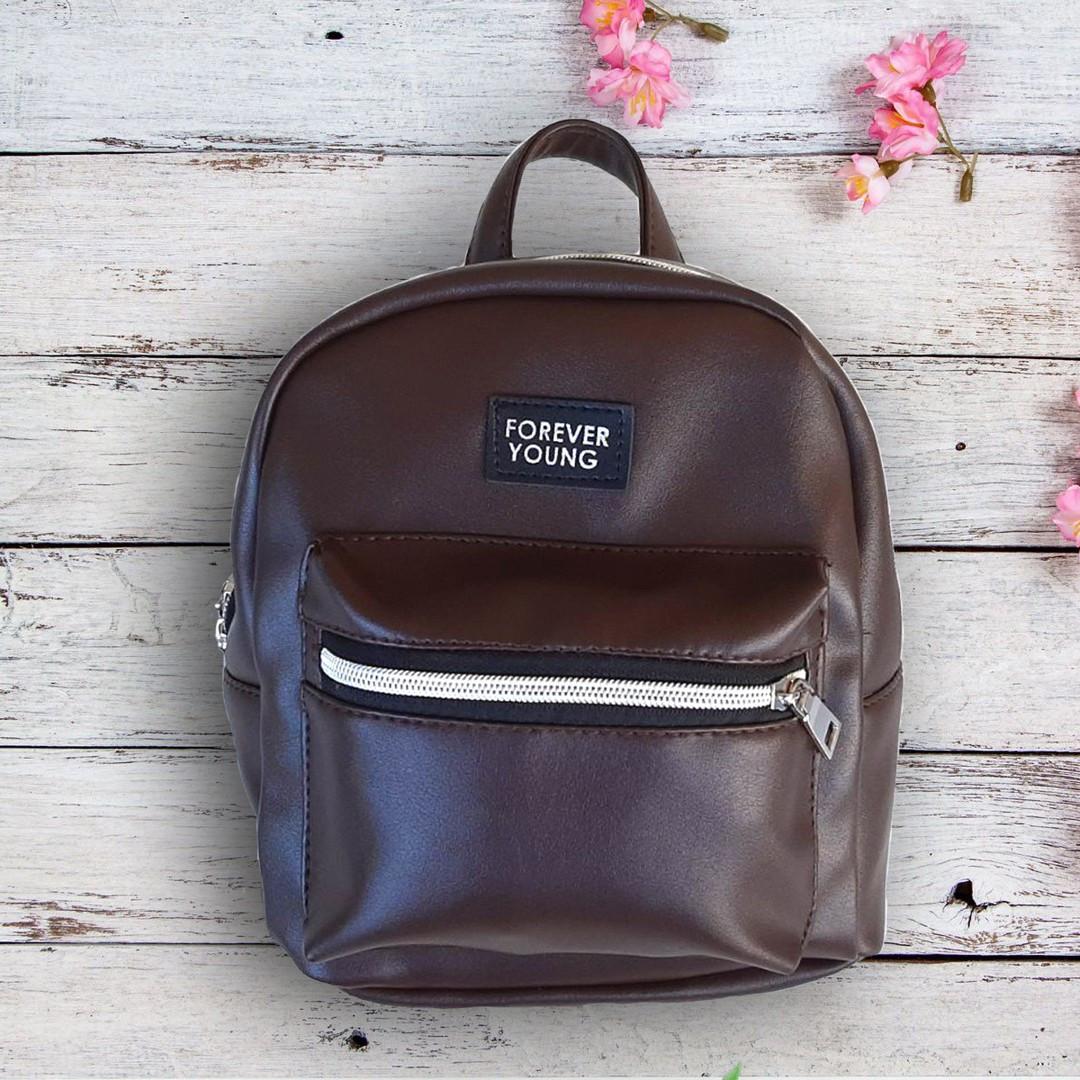 Новинка! Маленький жіночий рюкзак Forever Young Коричневий ViPvse
